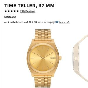 Nixion Time Teller, 37 MM/ All Gold